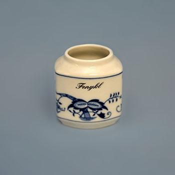 Dózička na koření - tělo 0,20 l originální cibulákový porcelán Dubí, cibulový vzor, 1. jakost 10703