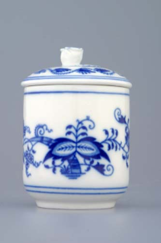 Tělo k hořořčičníku 0,10 l originální cibulákový porcelán Dubí, cibulový vzor 1. jakost