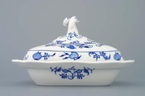 Cibulák Mísa ragout s víkem 0,40 l originální cibulákový porcelán Dubí, cibulový vzor 2. jakost 70084-2