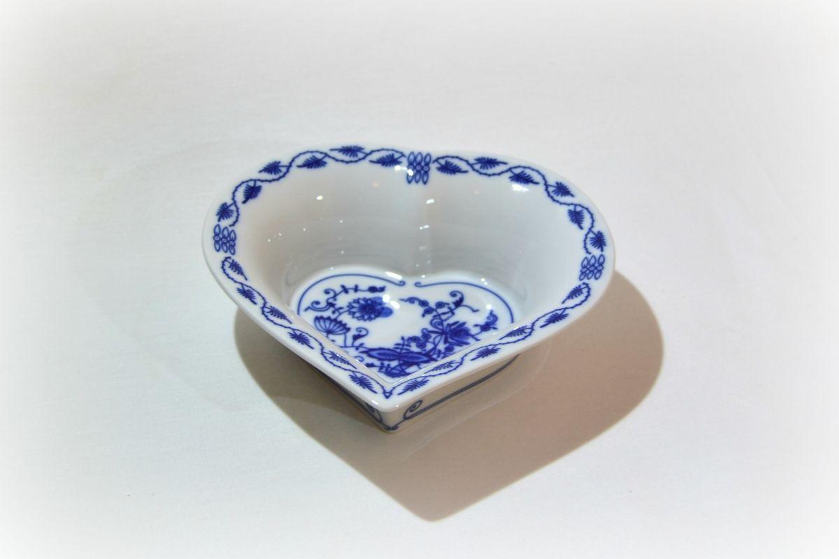 cibulák miska srdce Leander cibulákový porcelán 20111440