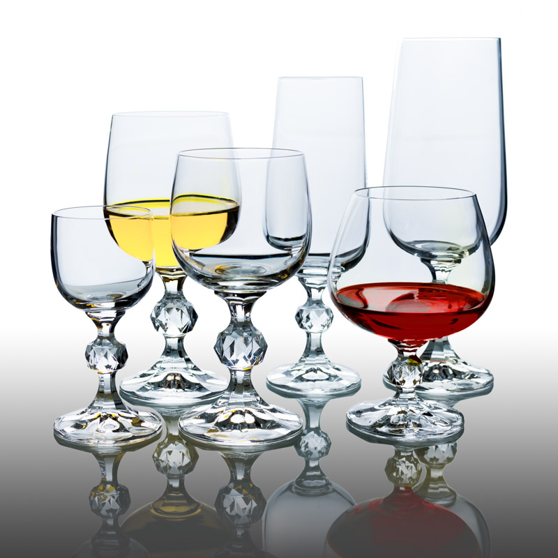 Sklenice na víno červené Claudia 340 ml 1 ks Crystalex CZ