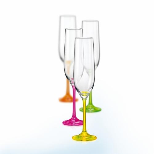 Skleničky barevné Neon na víno Viola 190 ml 4 ks Crystalex CZ 40729/190 D4892
