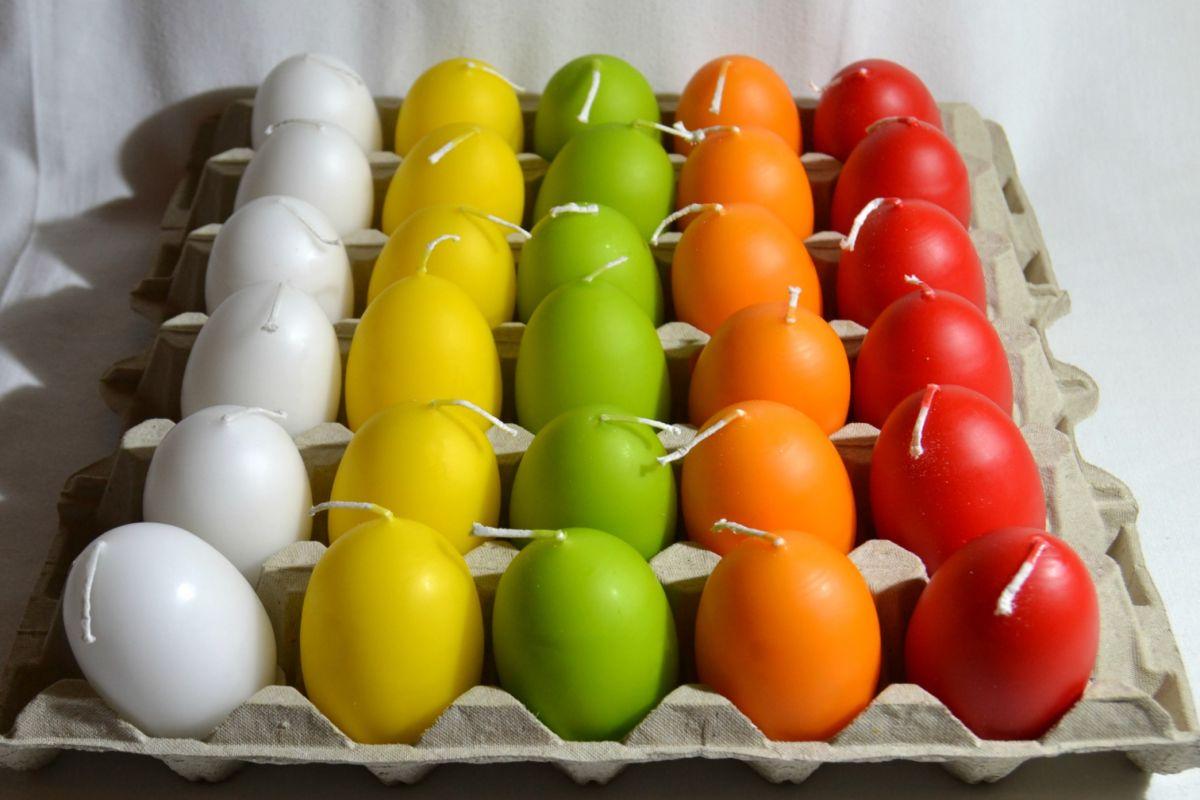 svíčka vejce 30ks Akce -50% Krab