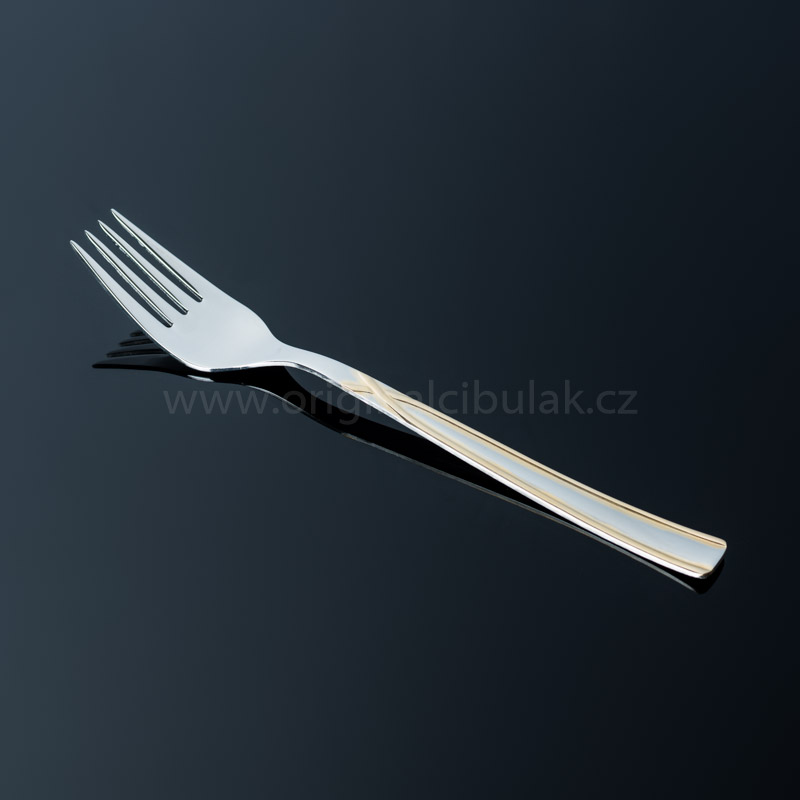 Vidlička jídelní TONER Art Gold zlacená 1 ks nerez 6065 606502G1