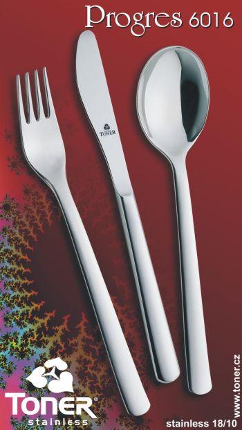 Příbory TONER Progres jídelní sada 24 ks pro 6 osob nerez 6016 60160001