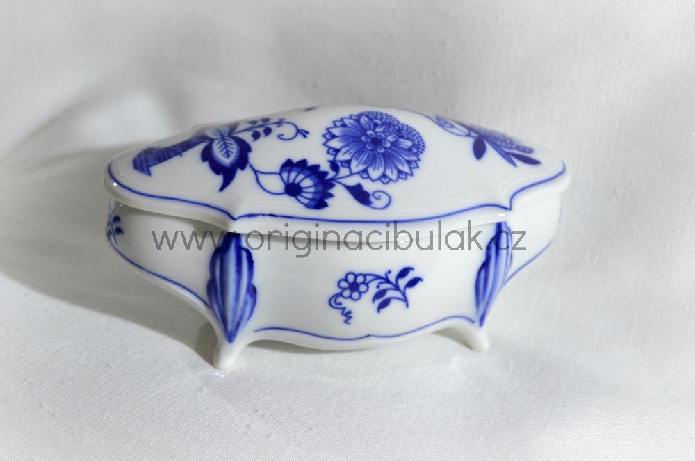 Cibulák Dóza Hana Český porcelán Dubí , cibulákový porcelán, 1.jakost 12088