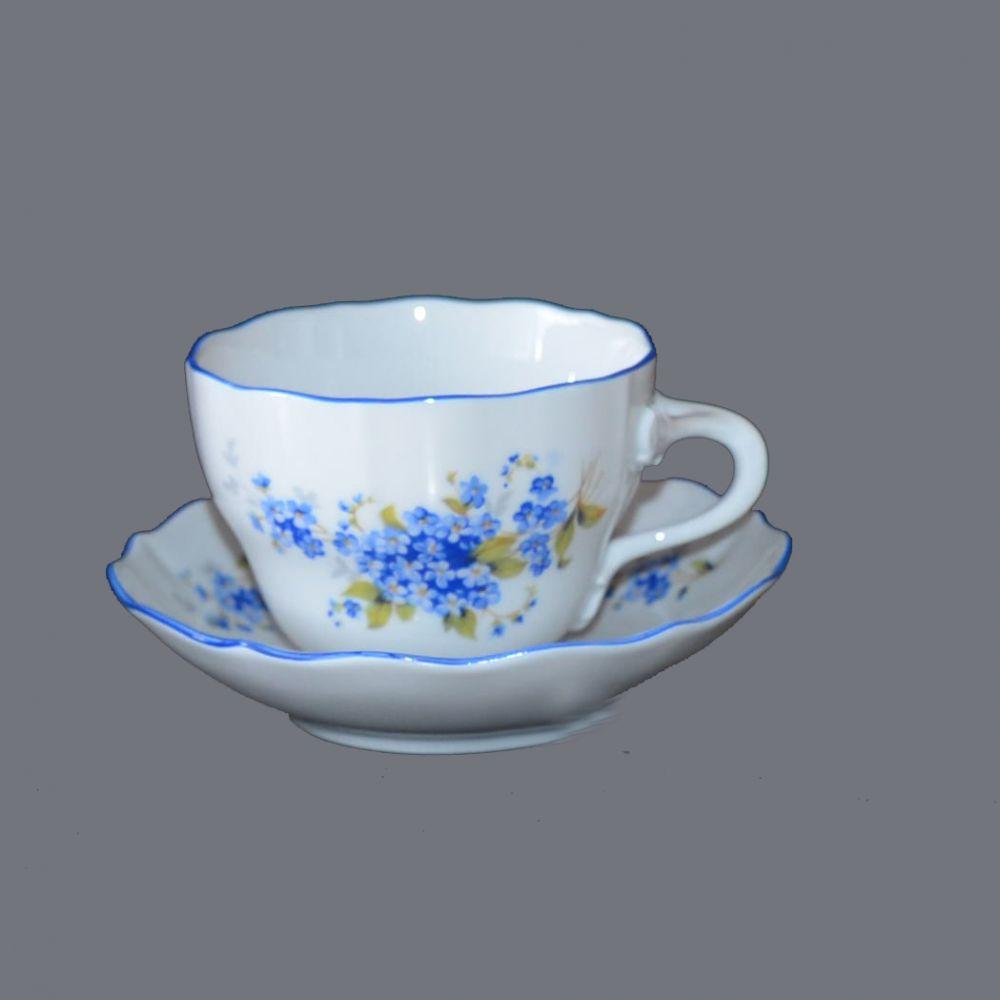Šálek +podšálek B modrá linka originální porcelán Dubí 1.jakost 70228 B 17210