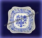 Cibulák mísa salátová čtyřhranná vysoká 21 cm originální cibulákový porcelán Dubí, cibulový vzor, 1.jakost