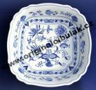 Cibulák mísa salátová čtyřhranná italská 26 cm originální cibulákový porcelán Dubí, cibulový vzor, 1.jakost
