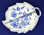 Cibulák mísa list 22 cm originální cibulákový porcelán Dubí, cibulový vzor, 1.jakost