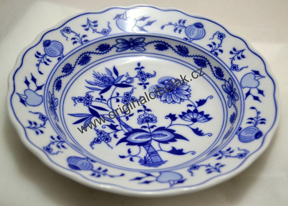 Český Porcelán cibulák Talíř hluboký 21 cm- originální cibulový porcelán Dubí