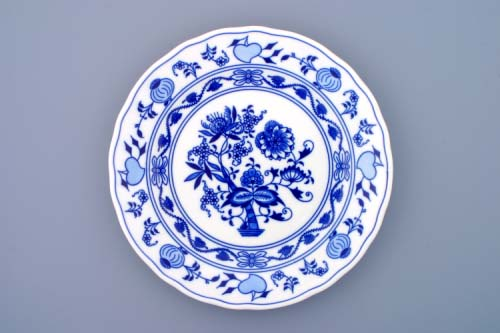 Cibulák talíř mělký 26cm - originální cibulový porcelán Dubí