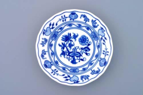 Cibulový porcelán, talíř dezertní 13 cm - originální cibulák, cibulákový vzor z Dubí