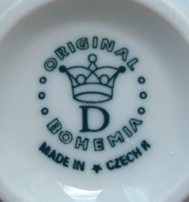 Cibulák šálek vysoký C, 0,25 l, originální cibulákový porcelán Dubí, cibulový vzor,