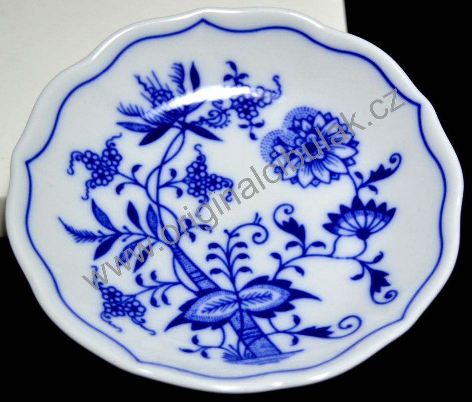 Český porcelán, Cibulák podšálek A 11 cm, originální cibulákový porcelán Dubí, cibulový vzor,