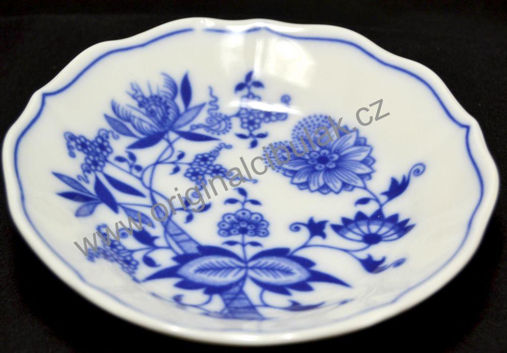 Cibulák podšálek A/1, 13 cm, originální cibulákový porcelán Dubí, cibulový vzor,
