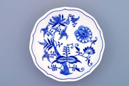 Cibulák podšálek B, 14 cm, originální cibulákový porcelán Dubí, cibulový vzor,