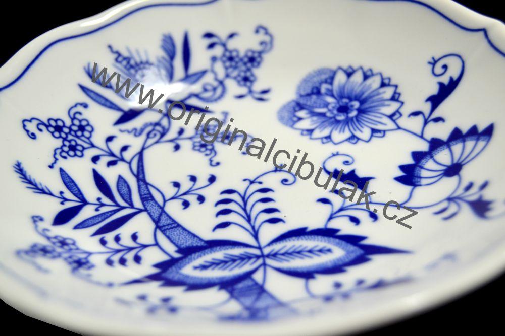 Cibulák podšálek C, 15,5 cm, originální cibulákový porcelán Dubí, cibulový vzor,