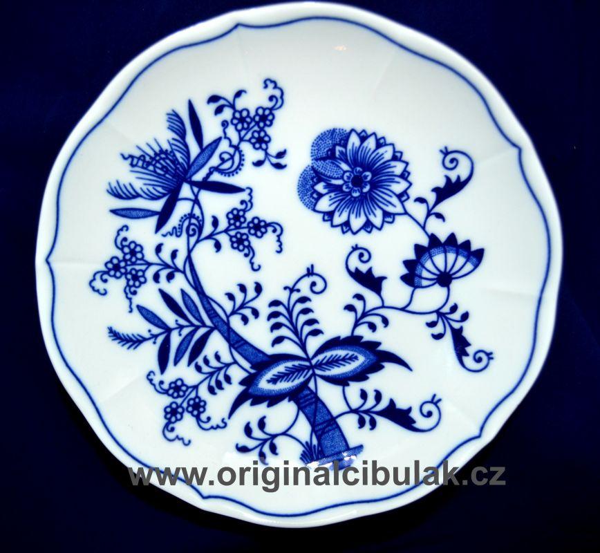 Cibulák podšálek bujón, 17,5 cm, originální cibulákový porcelán Dubí, cibulový vzor,