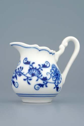 Cibulák mlékovka vysoká 0,08 l originální cibulákový porcelán Dubí, cibulový vzor, 1.jakost