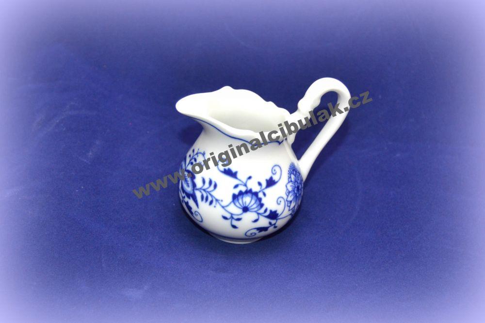 Cibulák mlékovka vysoká 0,08 l originální cibulákový porcelán Dubí, cibulový vzor,