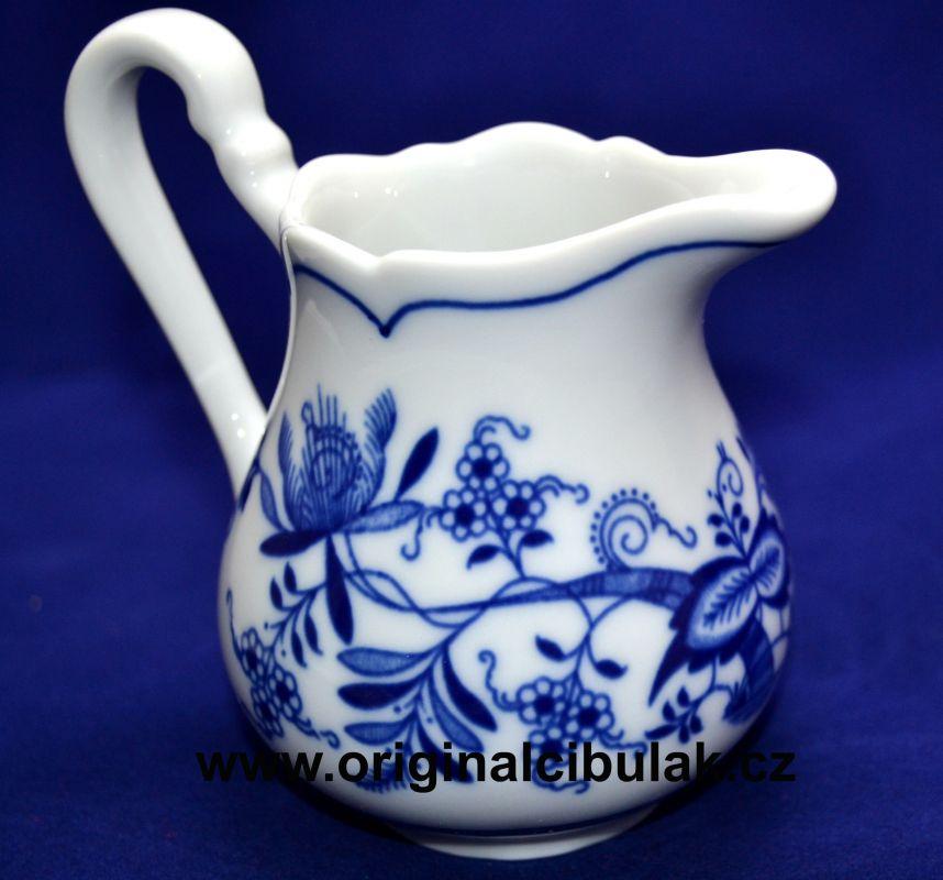 Cibulák mlékovka vysoká 0,16 l, originální cibulákový porcelán Dubí, cibulový vzor,