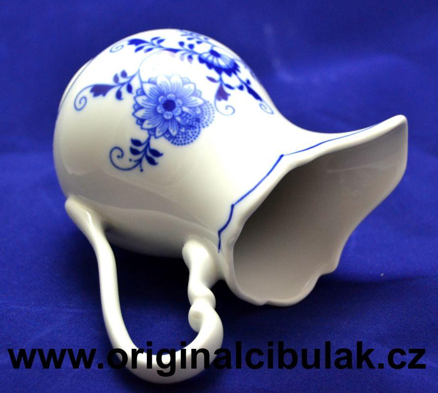 Cibulák mlékovka vysoká 0,25 l, originální cibulákový porcelán Dubí, cibulový vzor,