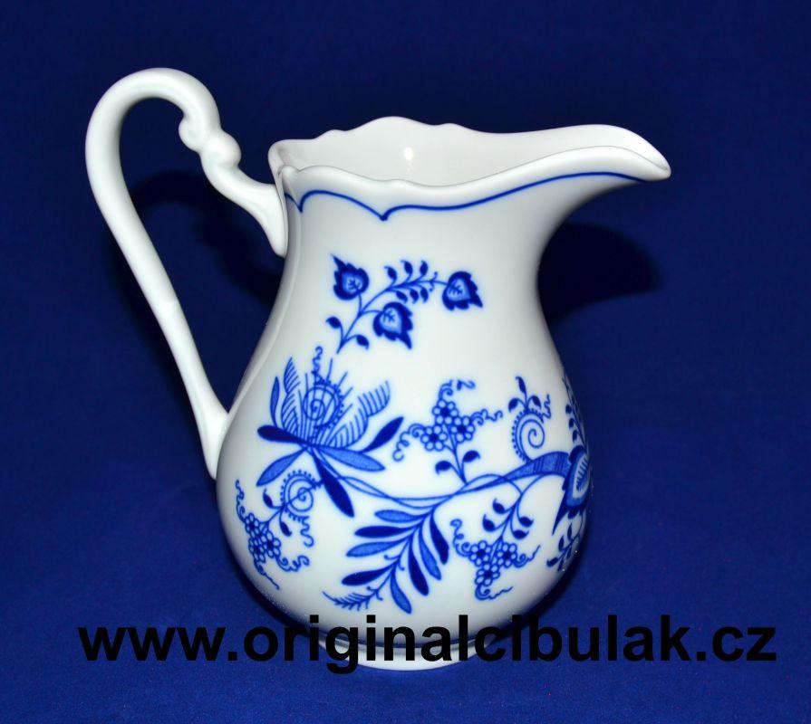 Cibulák mlékovka vysoká 0,50 l, originální cibulákový porcelán Dubí, cibulový vzor,