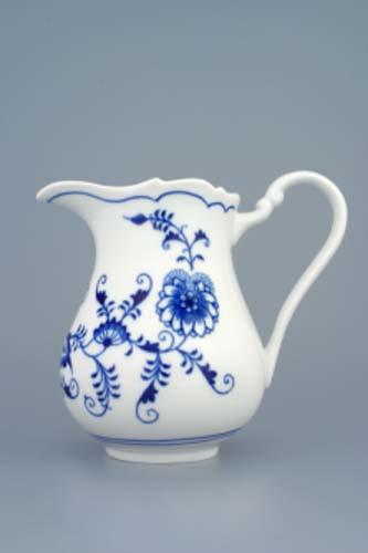 Cibulák mlékovka vysoká 0,85 l, originální cibulákový porcelán Dubí, cibulový vzor,