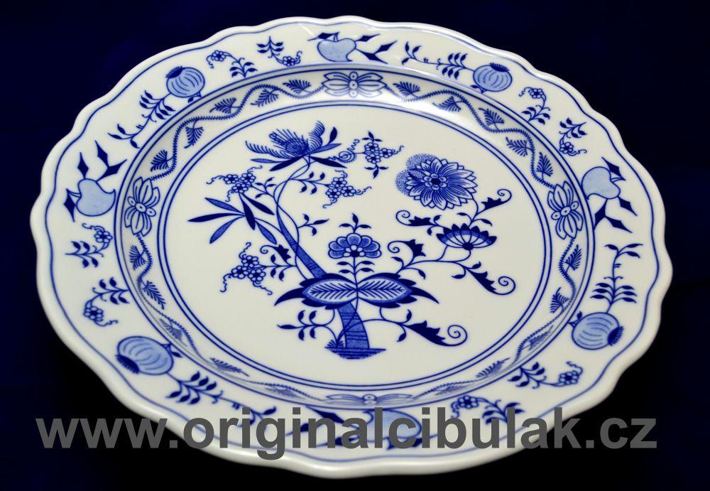 Cibulák mísa kulatá hluboká 31 cm originální cibulákový porcelán Dubí, cibulový vzor,