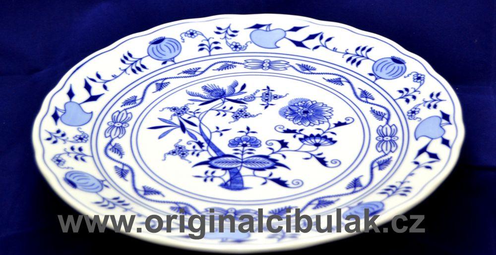 Cibulák talíř klubový 30 cm originální cibulákový porcelán Dubí, cibulový vzor,