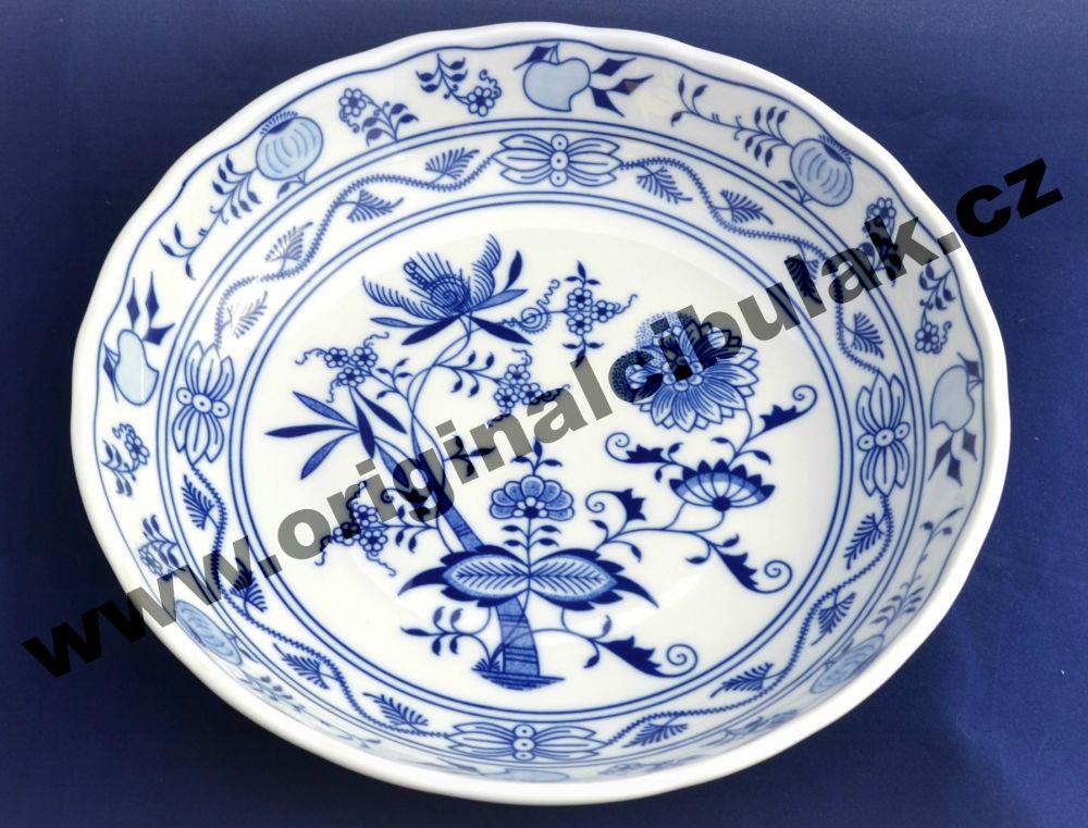 Cibulák mísa kompotová 27,5 cm originální cibulákový porcelán Dubí, cibulový vzor,