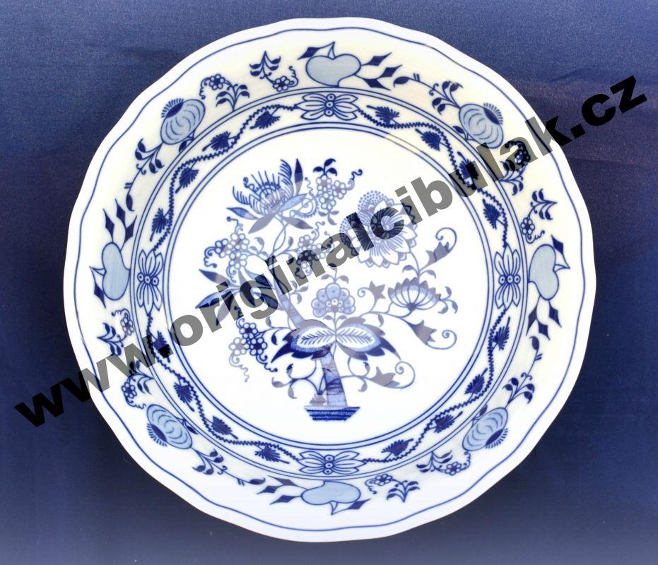 Cibulák mísa kompotová vysoká 23 cm originální cibulákový porcelán Dubí, cibulový vzor,