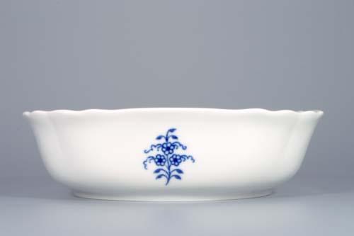 Cibulák mísa salátová čtyřhranná italská 19 cm originální cibulákový porcelán Dubí, cibulový vzor,