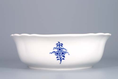Cibulák mísa salátová čtyřhranná italská 21 cm originální cibulákový porcelán Dubí, cibulový vzor,