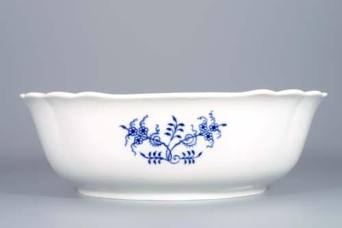Cibulák mísa salátová čtyřhranná italská 26 cm originální cibulákový porcelán Dubí, cibulový vzor,