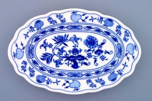 Cibulák mísa oválná 28 cm, originální cibulákový porcelán Dubí, cibulový vzor,