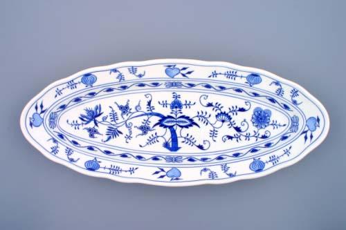 Cibulák mísa oválná na ryby 57 cm originální cibulákový porcelán Dubí, cibulový vzor,