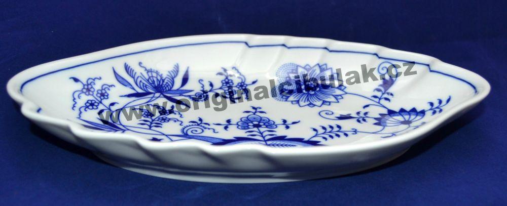 Cibulák mísa dvojlist 24 cm originální cibulákový porcelán Dubí, cibulový vzor,