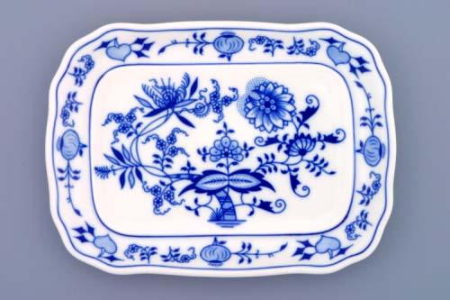 Cibulák Máslenka hranatá velká spodek 19 cm originální cibulákový porcelán Dubí, cibulový vzor,
