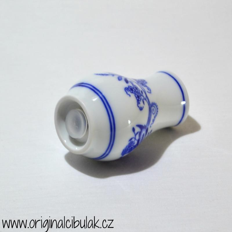 Cibulák slánka sypací bez nápisu 5 cm, originální cibulákový porcelán Dubí