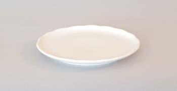 Podložka porcelán bílý pod konvici 14,5 cm Český porcelán Dubí