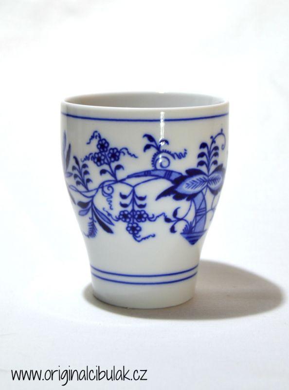 Cibulák pohárek bez oušek 0,25 l originální cibulákový porcelán Dubí, cibulový vzor,