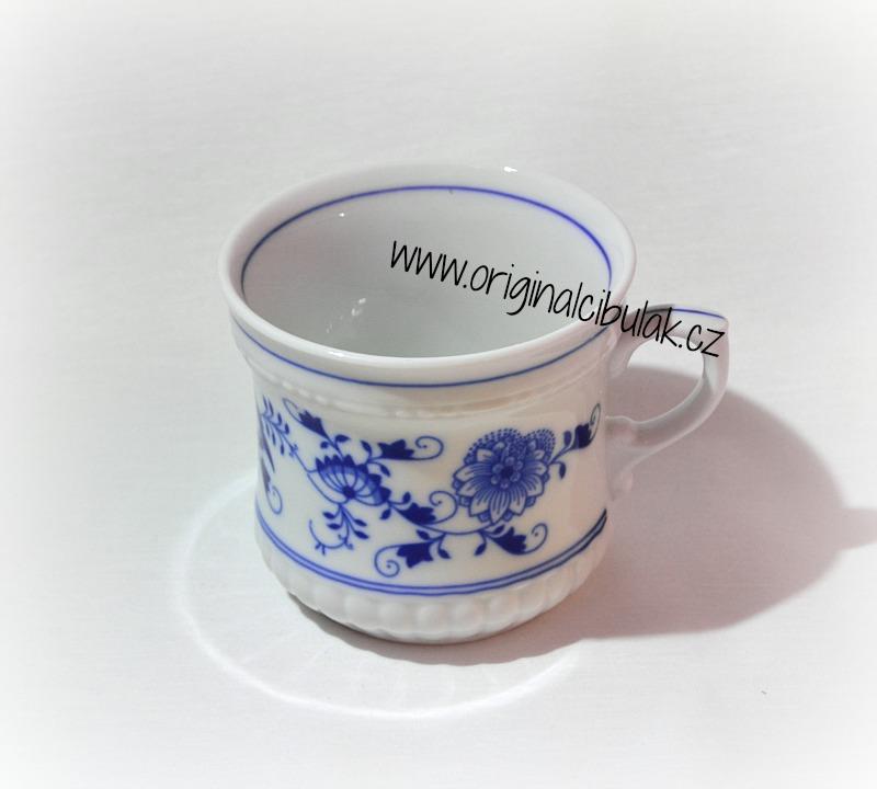 Cibulák hrnek Perlový velký 0,37 l originální cibulákový porcelán Dubí, cibulový vzor,
