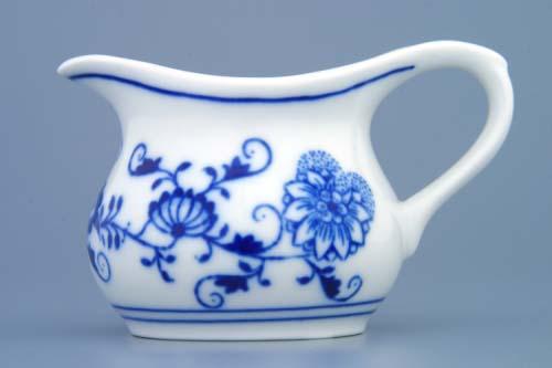 Cibulák konvička na šťávu 0,10 l originální cibulákový porcelán Dubí, cibulový vzor,