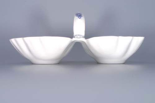 Cibulák kabaret 2-dílný 28 cm originální cibulákový porcelán Dubí, cibulový vzor,