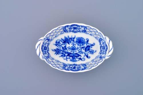 Cibulák košík prolamovaný 12 cm originální cibulákový porcelán Dubí, cibulový vzor,