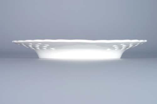 Cibulák talíř prolamovaný 15 cm originální cibulákový porcelán Dubí, cibulový vzor,
