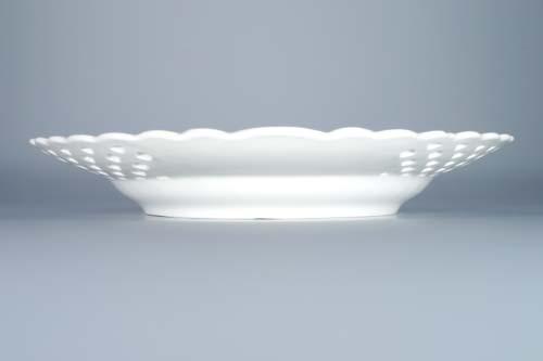Cibulák talíř prolamovaný 27 cm originální cibulákový porcelán Dubí, cibulový vzor,