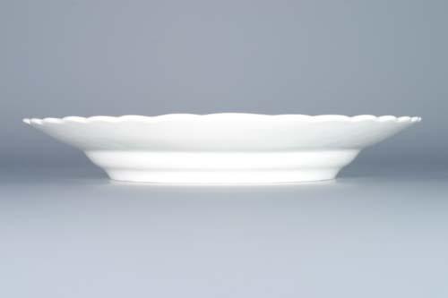 Cibulák talíř reliéfní 24 cm originální cibulákový porcelán Dubí, cibulový vzor,